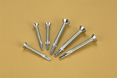 Flat Head with Wings Self Drilling Screws
