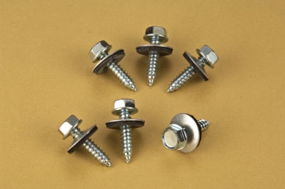 Hex Head Roofing Screws with Bonded Washer